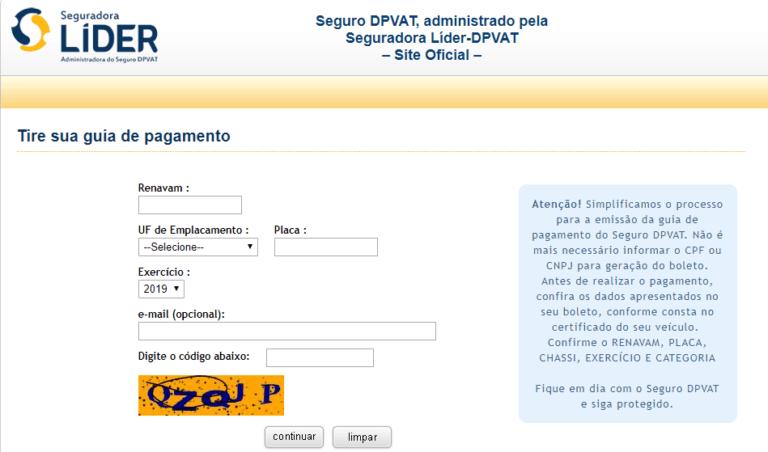 Guia de Pagamento DPVAT 2022